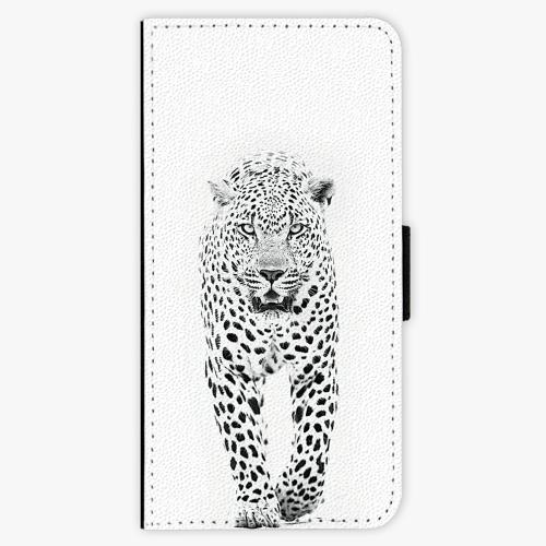 Flipové pouzdro iSaprio - White Jaguar - Samsung Galaxy A3 2017