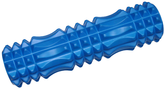 ACRA Válec masážní 45x14cm fitness roller modrý plast