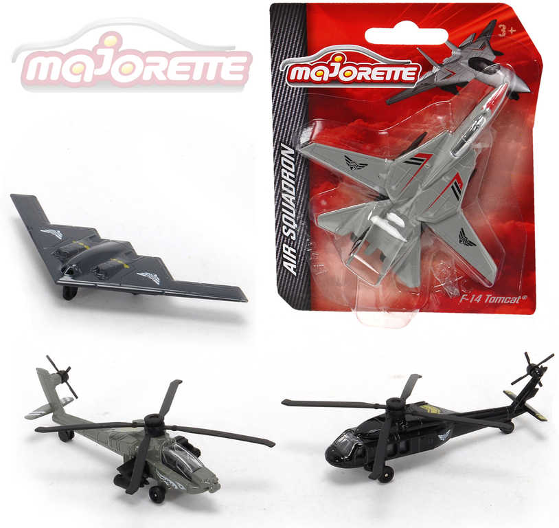 MAJORETTE Air Squadron kovový vrtulník / stíhačka letadlo - 4 druhy