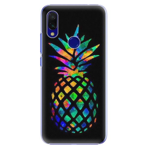 Plastové pouzdro iSaprio - Rainbow Pineapple - Xiaomi Redmi 7