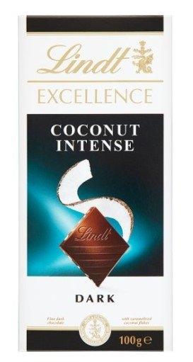 Lindt Excellence Extra hořká čokoláda s karamelizovanými kousky kokosu 100g