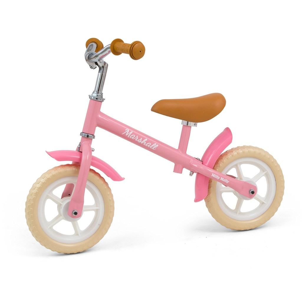 Dětské odrážedlo kolo Milly Mally - Marshall Pink - růžová