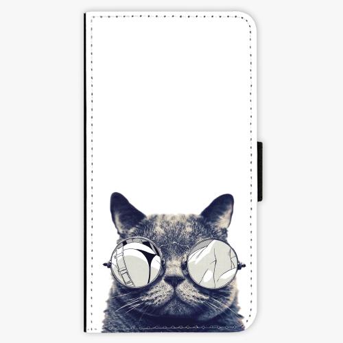 Flipové pouzdro iSaprio - Crazy Cat 01 - Samsung Galaxy S6