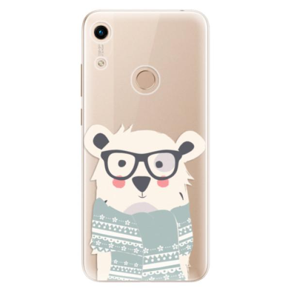 Odolné silikonové pouzdro iSaprio - Bear with Scarf - Huawei Honor 8A