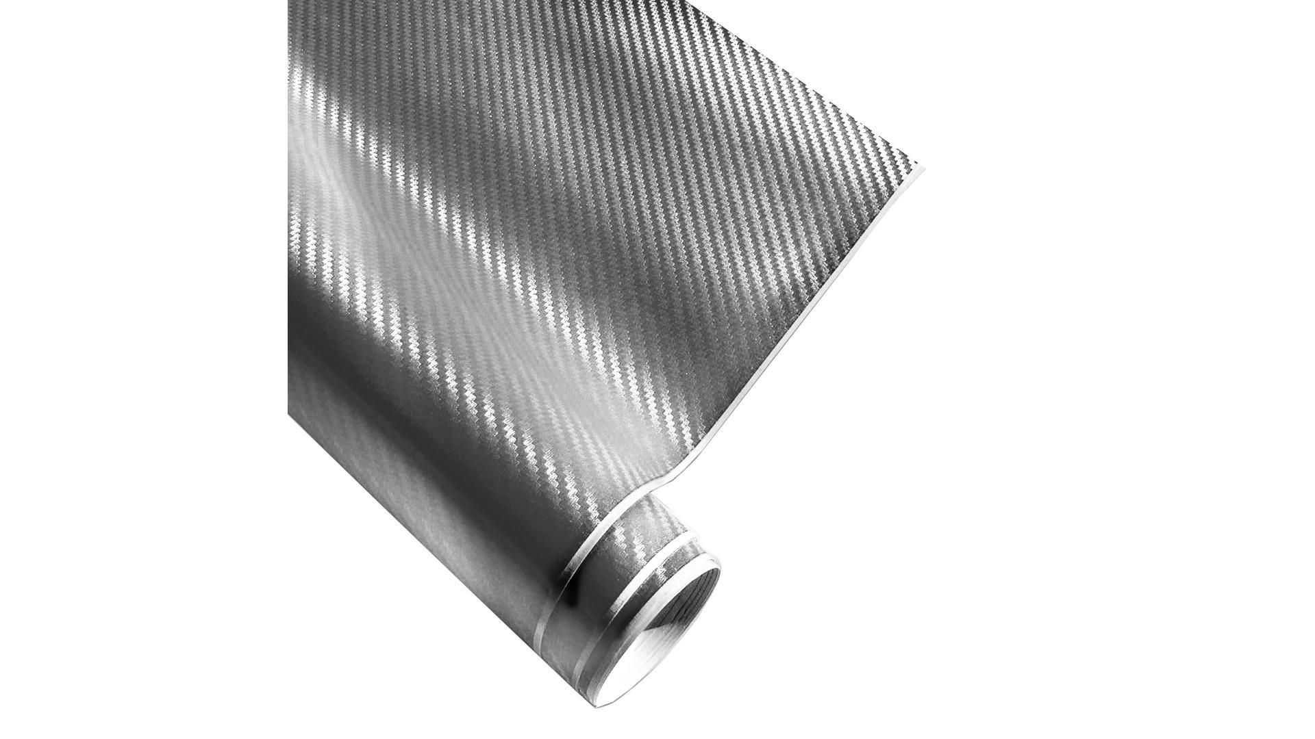 4CARS Fólie 3D CARBON Stříbrná 1.52x1m