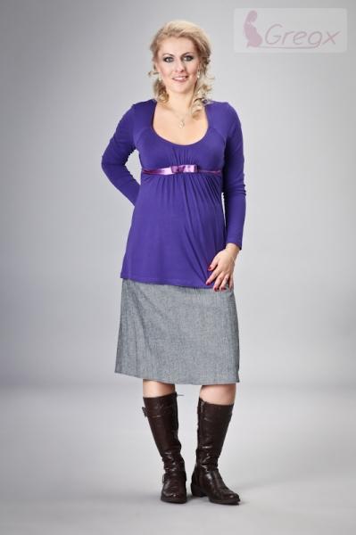Těhotenská sukně ELVIA - šedá s odstínem