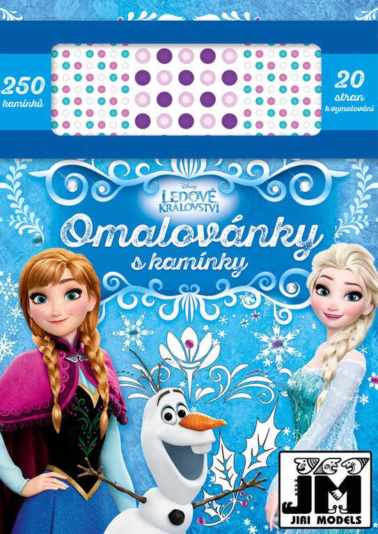 JIRI MODELS Omalovánky s kamínky Frozen (Ledové Království)