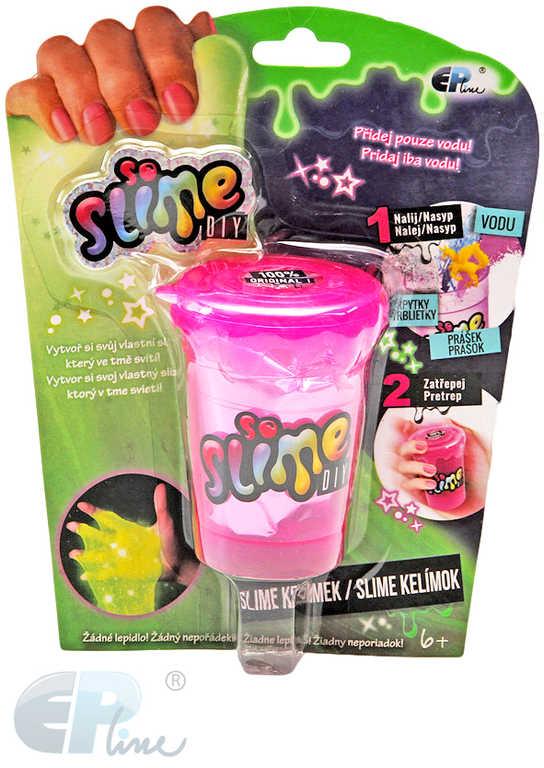EP line So Slime výroba slizu set kelímek 1ks s figurkou se třpytkami svítí ve tmě