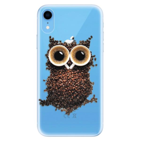 Odolné silikonové pouzdro iSaprio - Owl And Coffee - iPhone XR