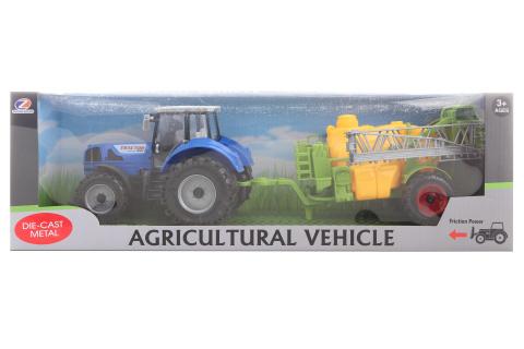 Traktor s postřikovačem