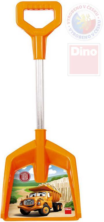 DINO Baby lopata na písek TATRA oranžová 48cm T ručka plast