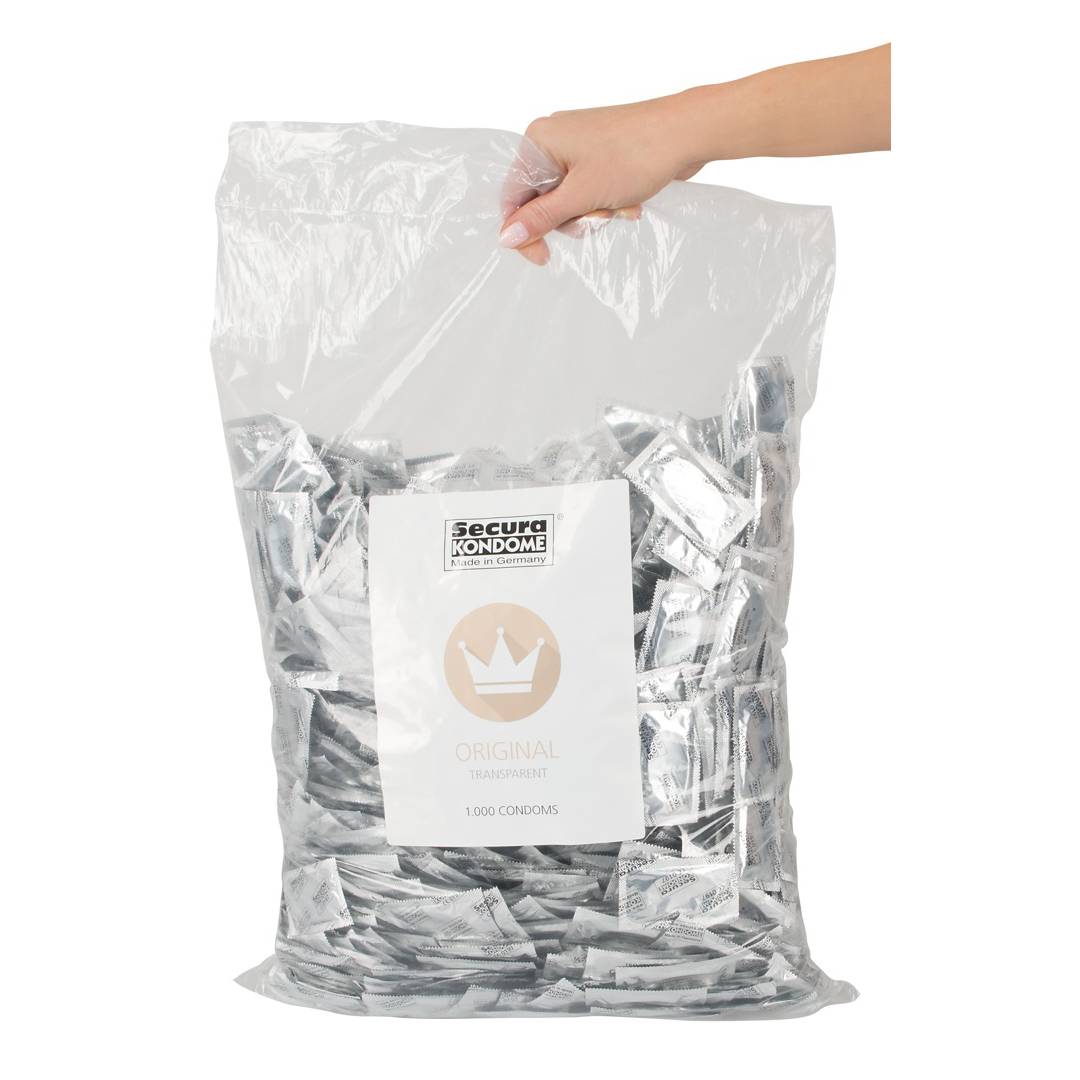 Transparentní hladké kondomy Secura - výhodné balení