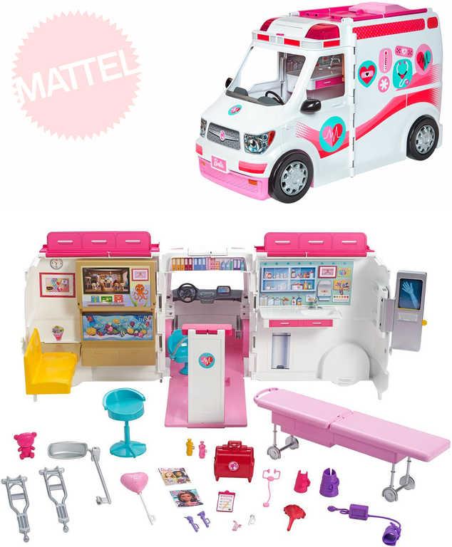 MATTEL BRB Barbie klinika na kolech set lékařské auto ordinace 2v1 s doplňky