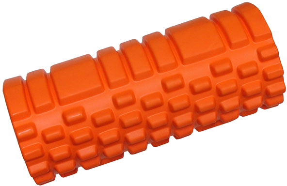 ACRA Válec masážní 33x14cm fitness roller oranžový plast