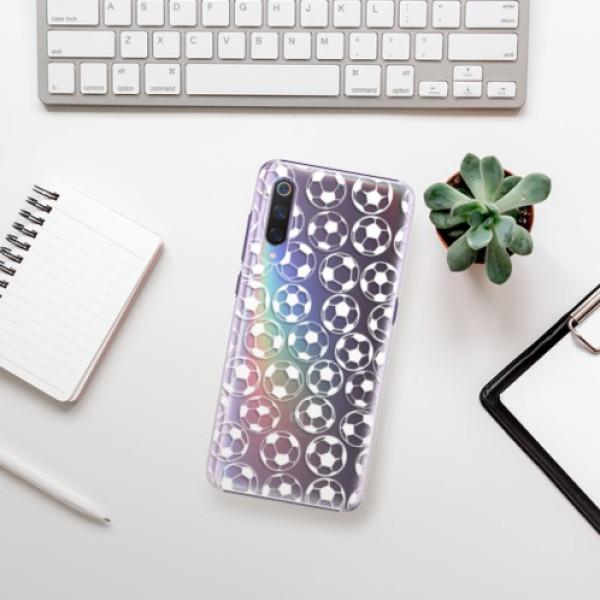 Plastové pouzdro iSaprio - Football pattern - white - Xiaomi Mi 9