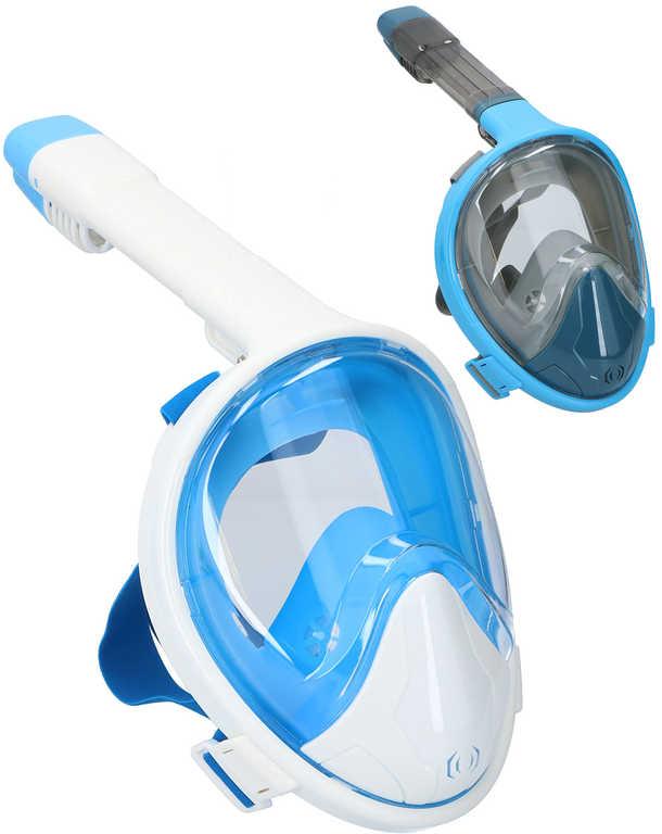 Maska potápěčská šnorchlovací dospělá vel.L-XL do vody celoobličejová 2 barvy