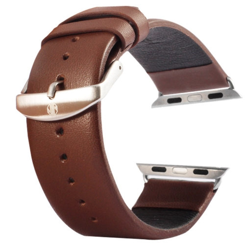 Kožený pásek / řemínek Kakapi pro Apple Watch 38mm hnědý