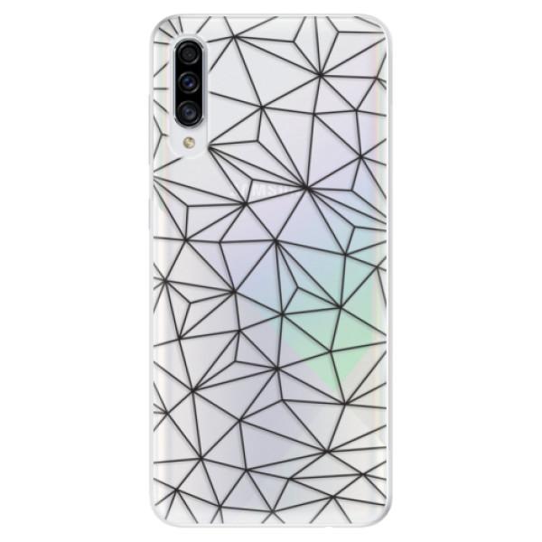 Odolné silikonové pouzdro iSaprio - Abstract Triangles 03 - black - Samsung Galaxy A30s
