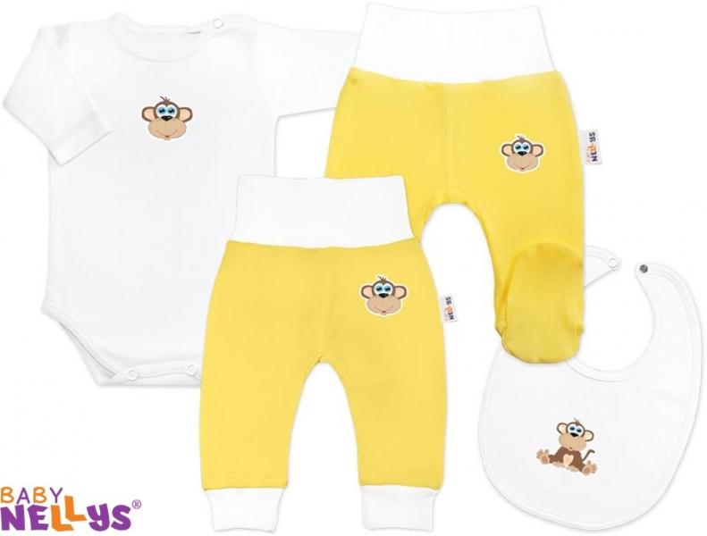 4D sada koj. oblečení Baby Nellys® - Opička krémová - 86 (12-18m)