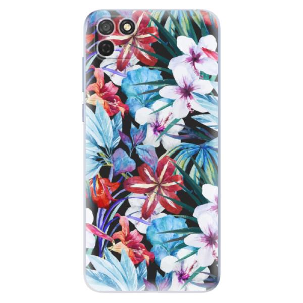 Odolné silikonové pouzdro iSaprio - Tropical Flowers 05 - Honor 9S