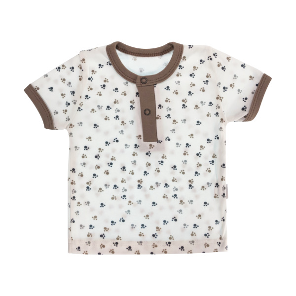 Bavlněné Polo tričko Mamatti Tlapka krátký rukáv
