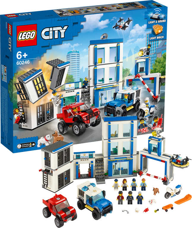 LEGO CITY Policejní stanice na baterie Světlo Zvuk 60246 STAVEBNICE