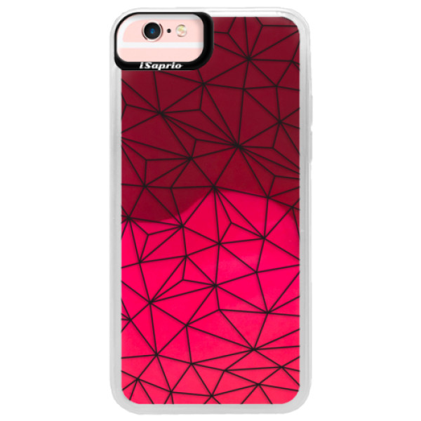 Neonové pouzdro Pink iSaprio - Abstract Triangles 03 - black - iPhone 6/6S