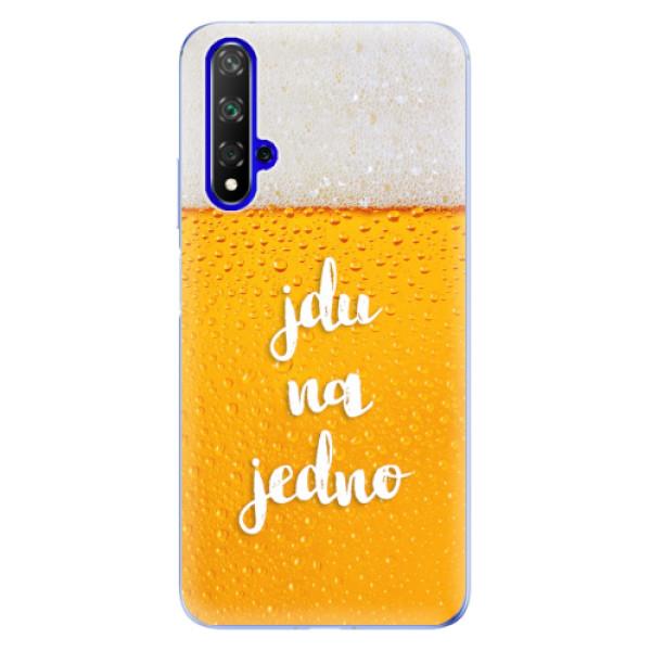 Odolné silikonové pouzdro iSaprio - Jdu na jedno - Huawei Honor 20