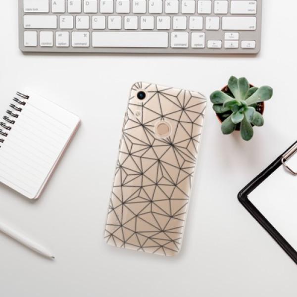 Odolné silikonové pouzdro iSaprio - Abstract Triangles 03 - black - Huawei Honor 8A