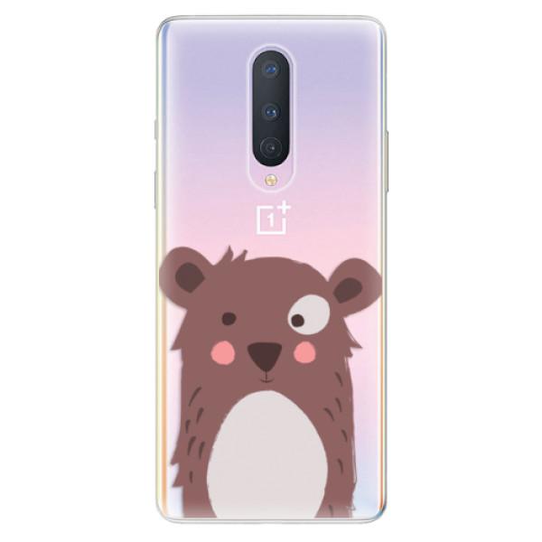 Odolné silikonové pouzdro iSaprio - Brown Bear - OnePlus 8