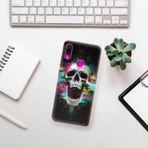 Odolné silikonové pouzdro iSaprio - Skull in Colors - Xiaomi Redmi Note 7