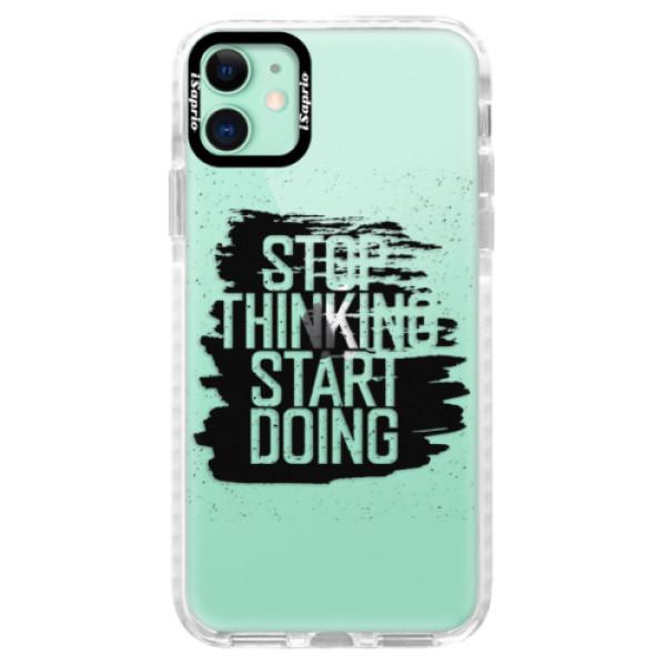Silikonové pouzdro Bumper iSaprio - Start Doing - black - iPhone 11
