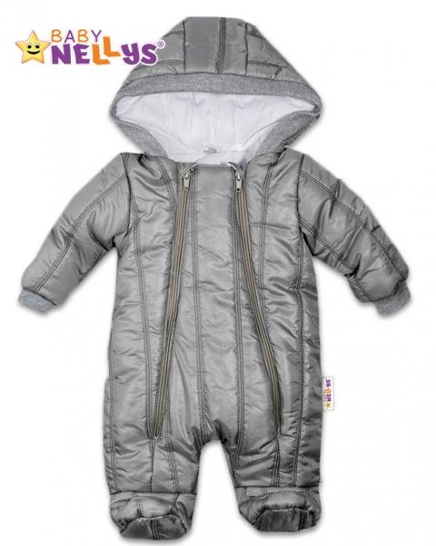 Kombinézka s kapuci LUX Baby Nellys ®prošívaná - šedá