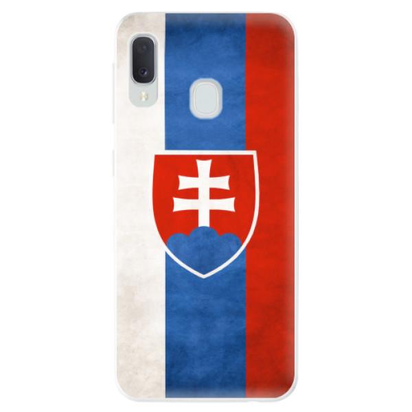 Odolné silikonové pouzdro iSaprio - Slovakia Flag - Samsung Galaxy A20e