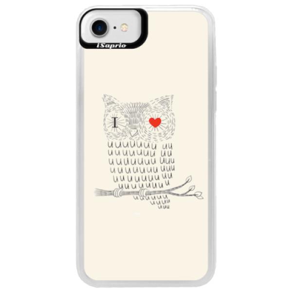 Neonové pouzdro Blue iSaprio - I Love You 01 - iPhone 7