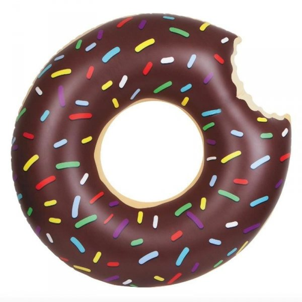 Nafukovací kruh Donut - Čokoládový