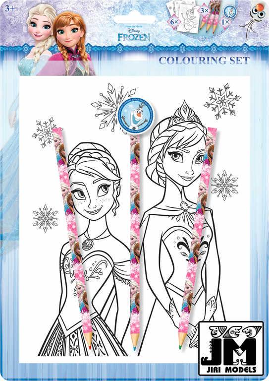 JIRI MODELS Omalovánky set se 3 pastelkami a gumou Frozen (Ledové Království)