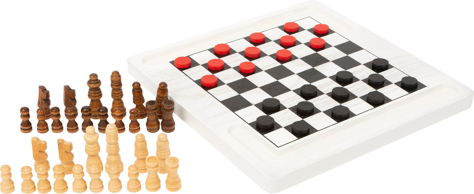 Small Foot Dřevěné šachy a dáma