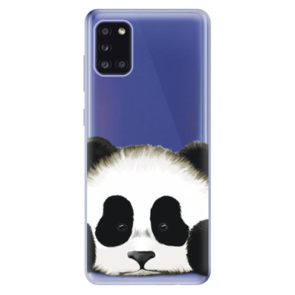 Odolné silikonové pouzdro iSaprio - Sad Panda - Samsung Galaxy A31