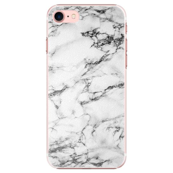 Plastové pouzdro iSaprio - White Marble 01 - iPhone 7