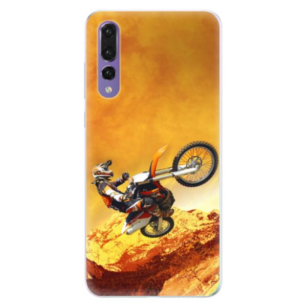 Silikonové pouzdro iSaprio - Motocross - Huawei P20 Pro