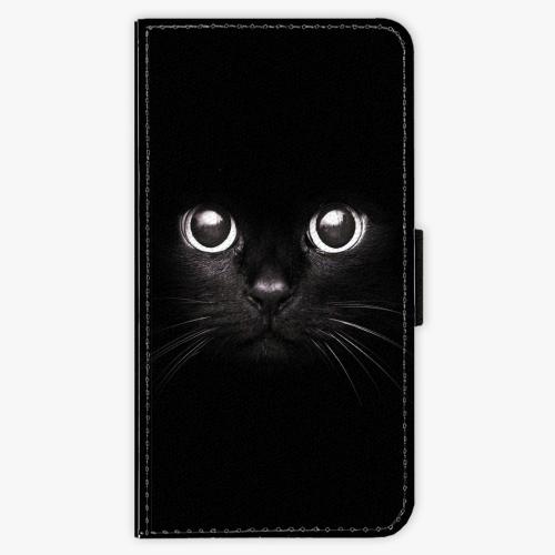 Flipové pouzdro iSaprio - Black Cat - Samsung Galaxy J7 2016