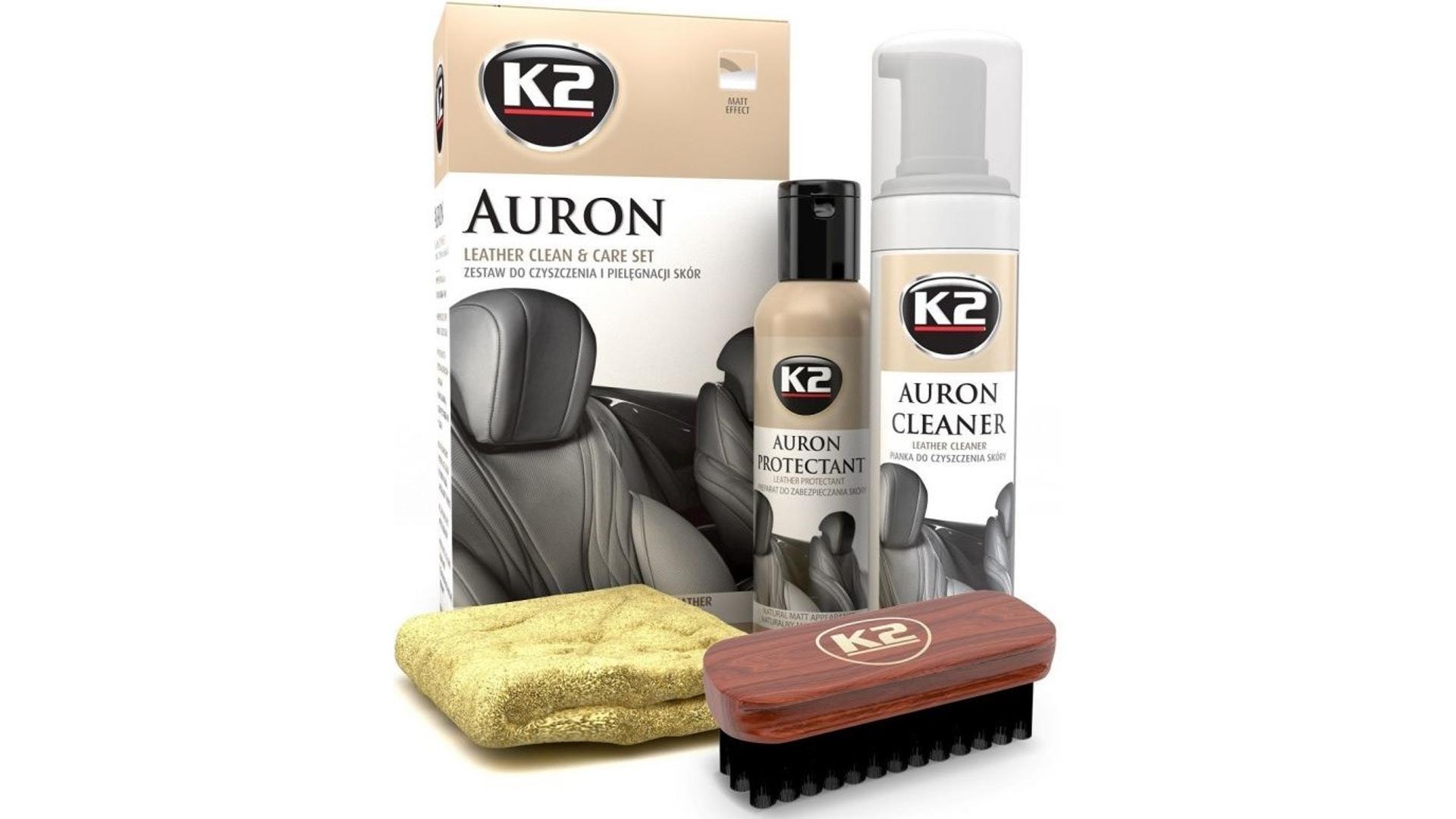 K2 AURON LEATHER CLEAN & CARE SET - čistící sada k čištění kůže