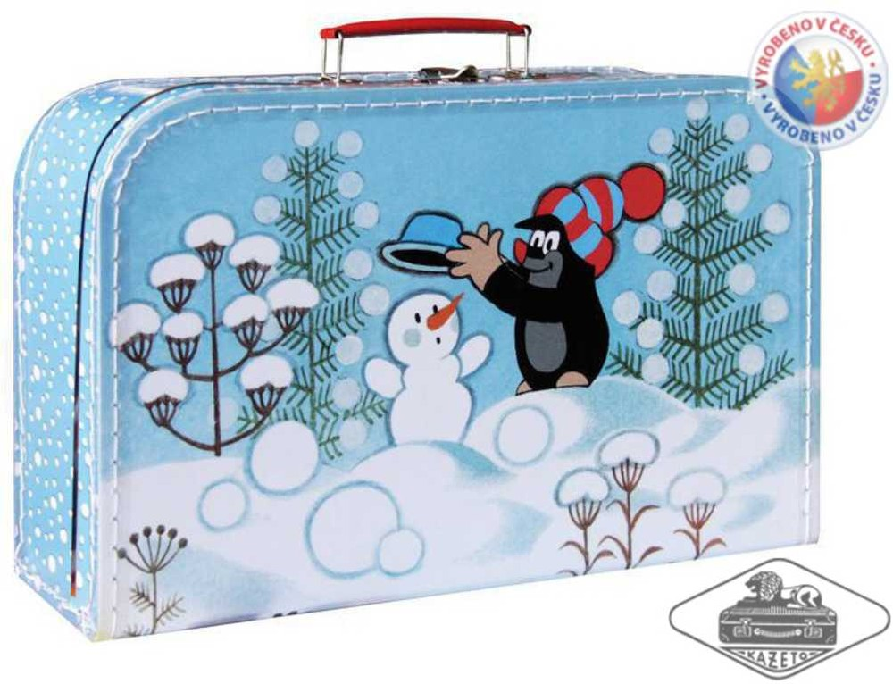 KAZETO Kufr KRTEK zima velký kufřík KRTEČEK