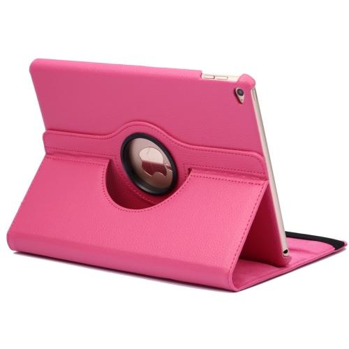 Kožený kryt / pouzdro Smart Cover Rotation Litchi pro iPad Air 2 růžový