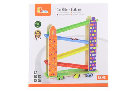 Dřevěná dráha s autíčky