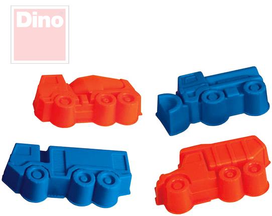 DINO Formičky plastové na písek TATRA set 4 bábovky v síťce