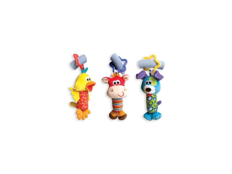 Playgro - Cestovní závěsné hračky 3ks