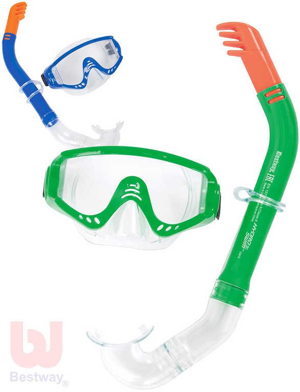 BESTWAY Set brýle potapěčské + šnorchl Secret Bay do vody 24020