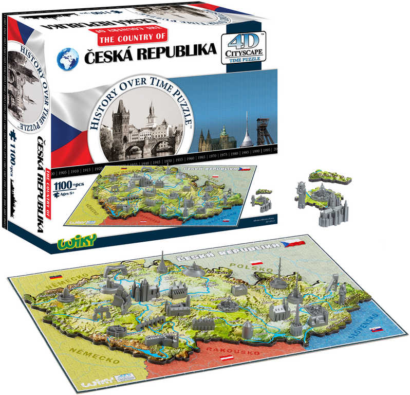 PUZZLE 4D Cityscape Česká republika 1100 dílků 3 vrstvy 61x40x7cm v krabici